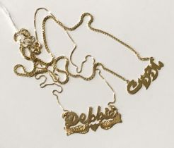 TWO 18CT GOLD NECKLACES SOME 9CT