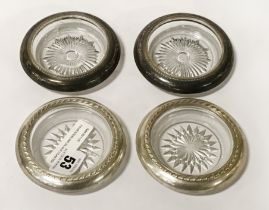 FOUR STERLING SILVER COASTERS