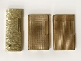 TWO DUPONT LIGHTERS & 1 OTHER