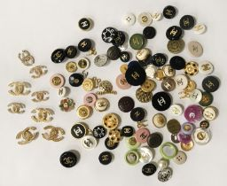 QTY CHANEL BUTTONS - APPROX 100 PIECES