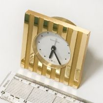 TIFFANY & CO DESK CLOCK ''ATLAS'' 7CM SQ