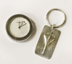 TWO CONCORDE ITEMS - KEYRING & CLOCK