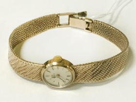 OMEGA 9CT LADIES WATCH - WORKING