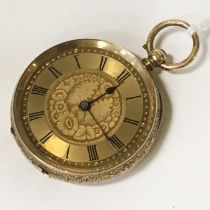 14CT GOLD FOB WATCH