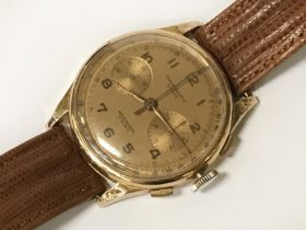 18CT GOLD CHRONOGRAPH SUISSE WATCH