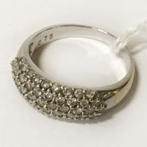 18CT DIAMOND CLUSTER RING - SIZE N