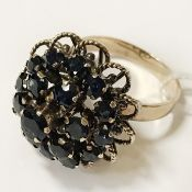 14CT YELLOW GOLD & SAPPHIRE RING - SIZE N
