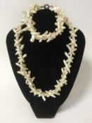 BAROQUE PEARL NECKLACE & BRACELET WITH SILVER CLASP