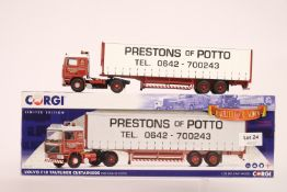 Corgi Volvo F10 Curtainside Trailer - Prestons Of Potto