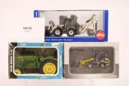 Assorted 3 Assorted Boxed Tractor & Digger Models