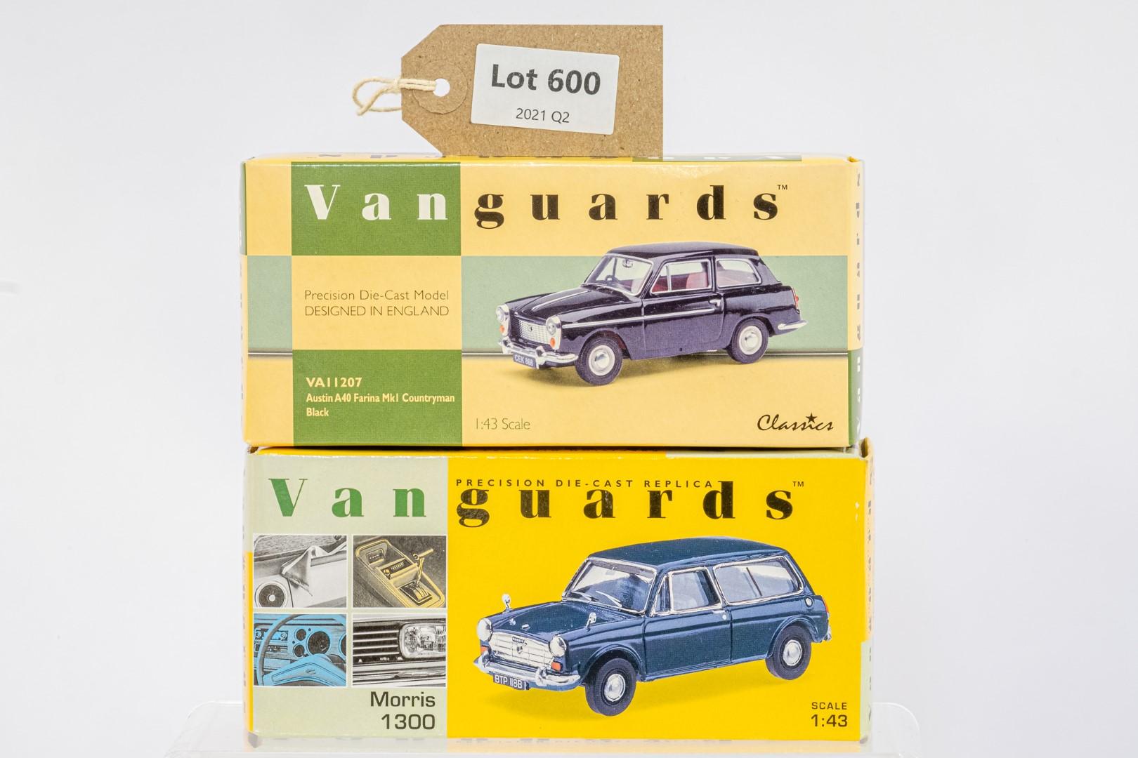 Vanguards Austin A40 Farina MkI Countryman - Black / Morris 1300 - Trafalgar Blue -