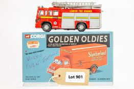 Lledo Volvo Fire Engine - Londons Burning TV Show - In Wrong Box