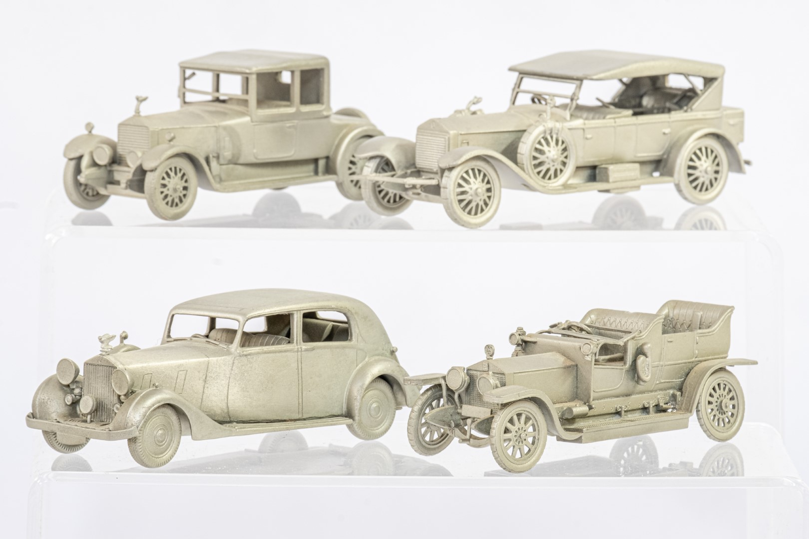Danbury Mint 12 x Loose Pewter Rolls Royce Models - No Boxes - Image 4 of 4