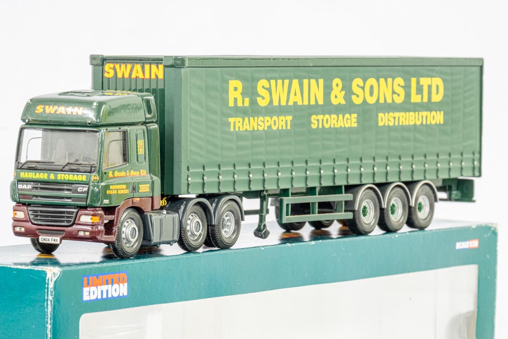 Corgi DAF CF Curtainside - R Swain & Son Ltd - - Image 4 of 5