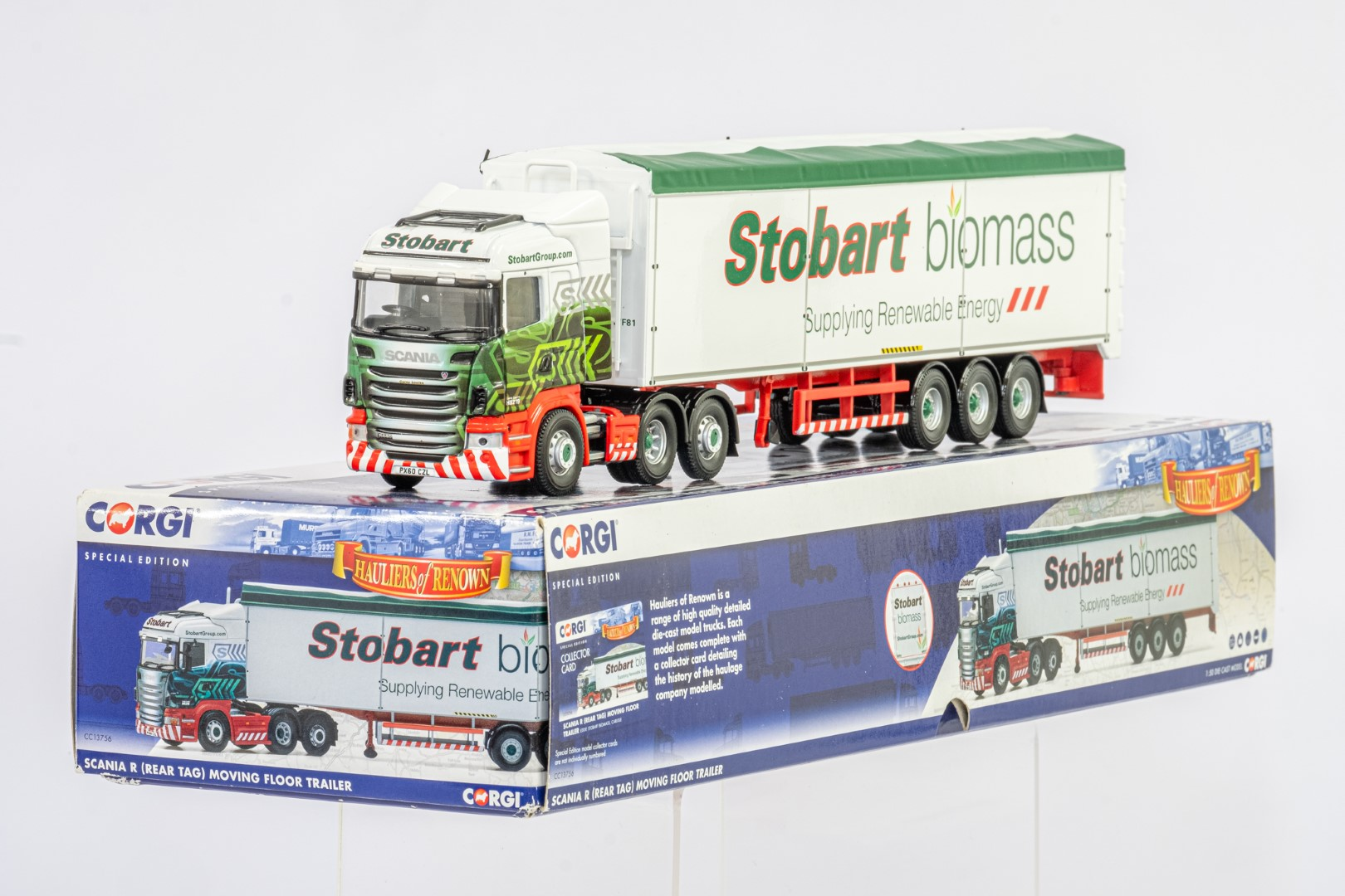 Corgi Scania R Moving Floor Trailer - Eddie Stobart Biomass - - Image 2 of 3