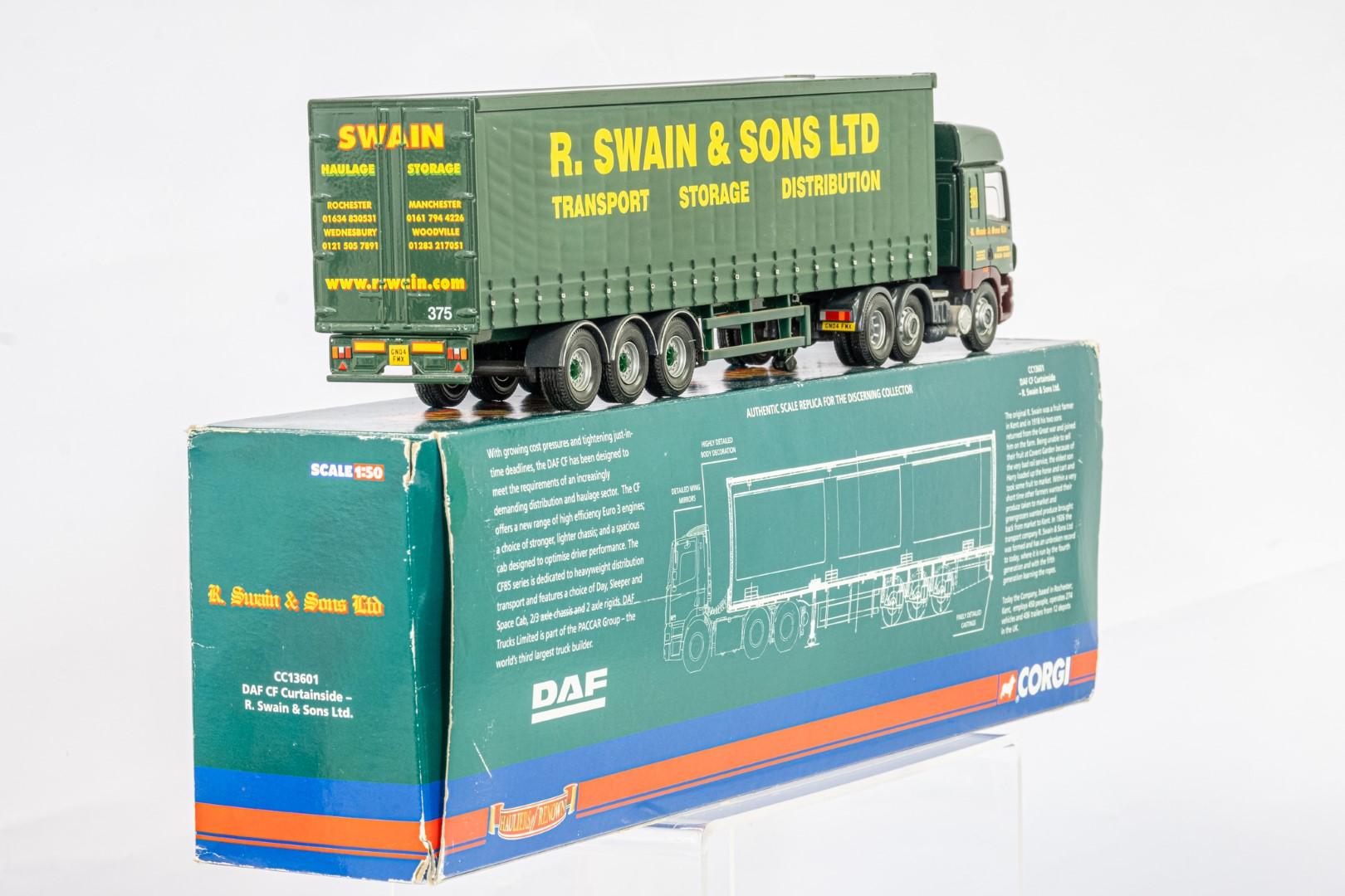 Corgi DAF CF Curtainside - R Swain & Son Ltd - - Image 3 of 5