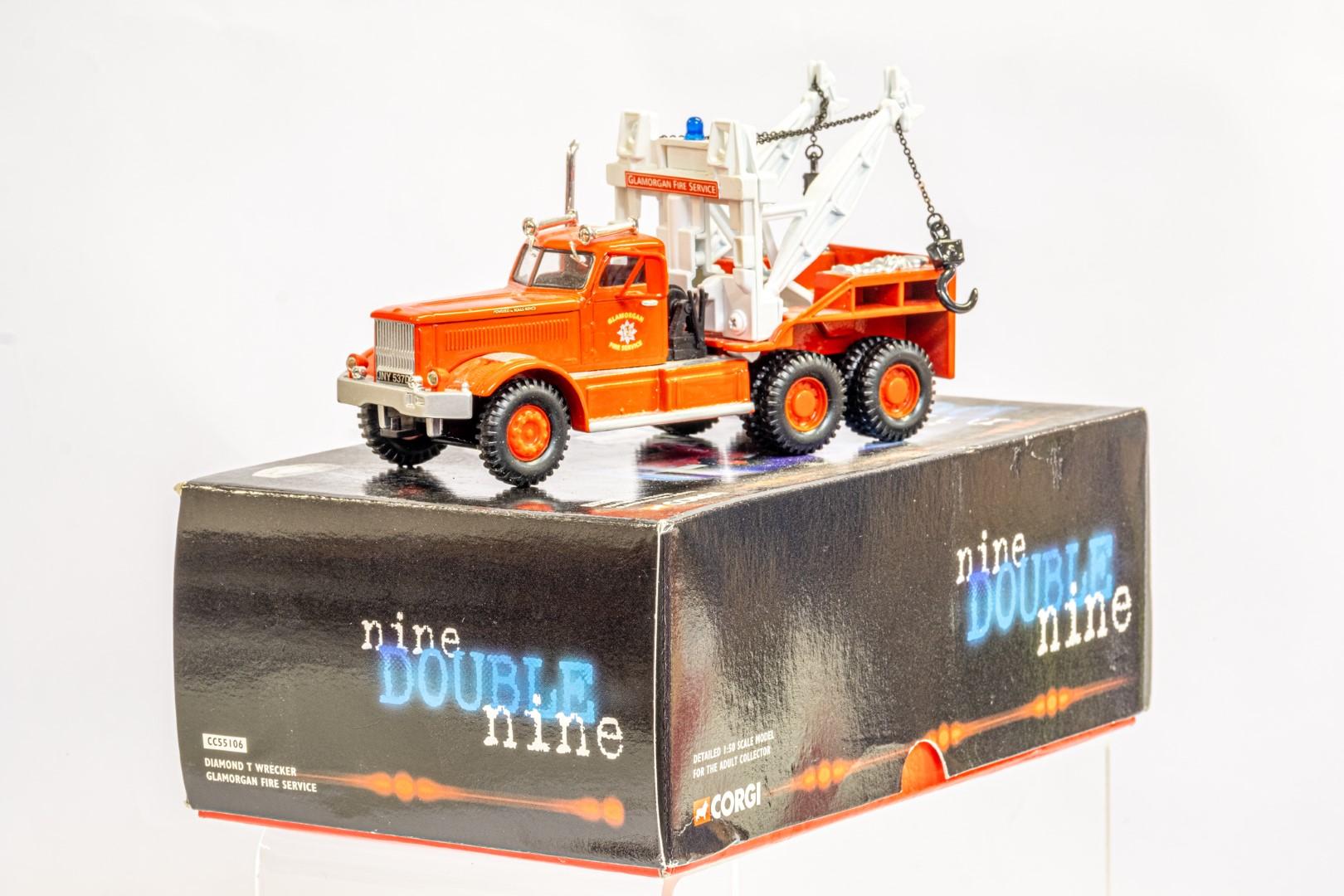 Corgi Diamond T Wrecker - Galmorgan Fire Service - Image 3 of 6