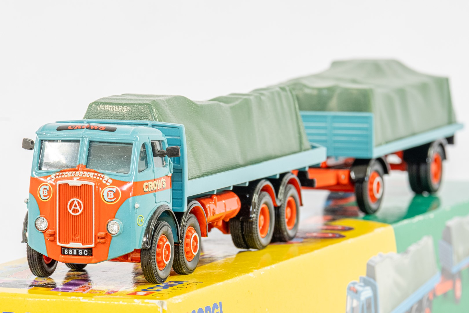 Corgi Billy Crow & Sons Atkinson 8 Wheel Rigid Truck & Trailer With Loads Set - - Image 2 of 2