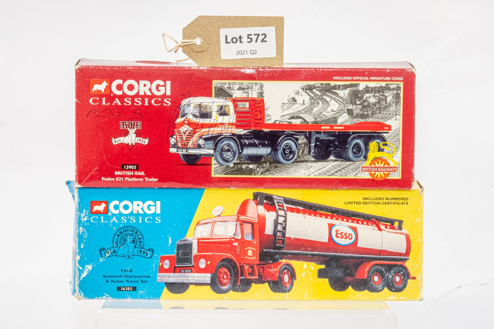 Corgi Esso Tanker Trailer & Albion With Flatbed & Load - Russell - In Wrong Box - Code 3 ? -