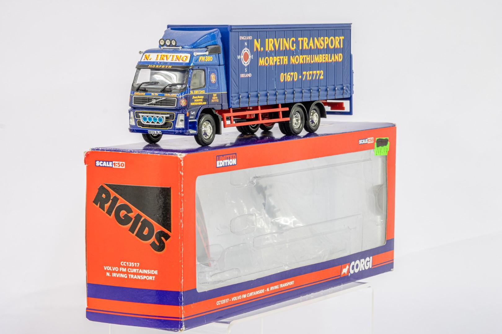 Corgi Volvo FM Curtainside - N.Irving Transport - - Image 2 of 5