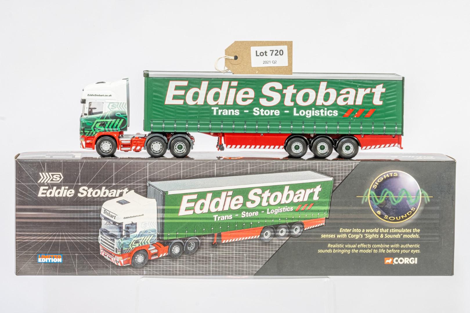Corgi Scania Topline Curtainside Trailer - Eddie Stobart - Sights & Sounds