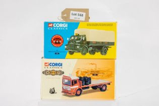 Corgi Albion Clydesdale Platform Lorry - White Horse / Bedford S General Purpose Lorry - AFS -