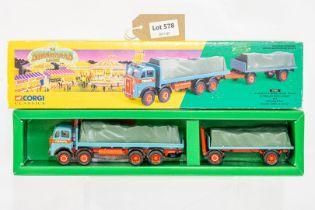Corgi Billy Crow & Sons Atkinson 8 Wheel Rigid Truck & Trailer With Loads Set -