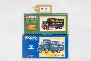 Corgi Bedford TK Box Van - Pickfords / Leyland Beaver - Guinness In Wrong Box -