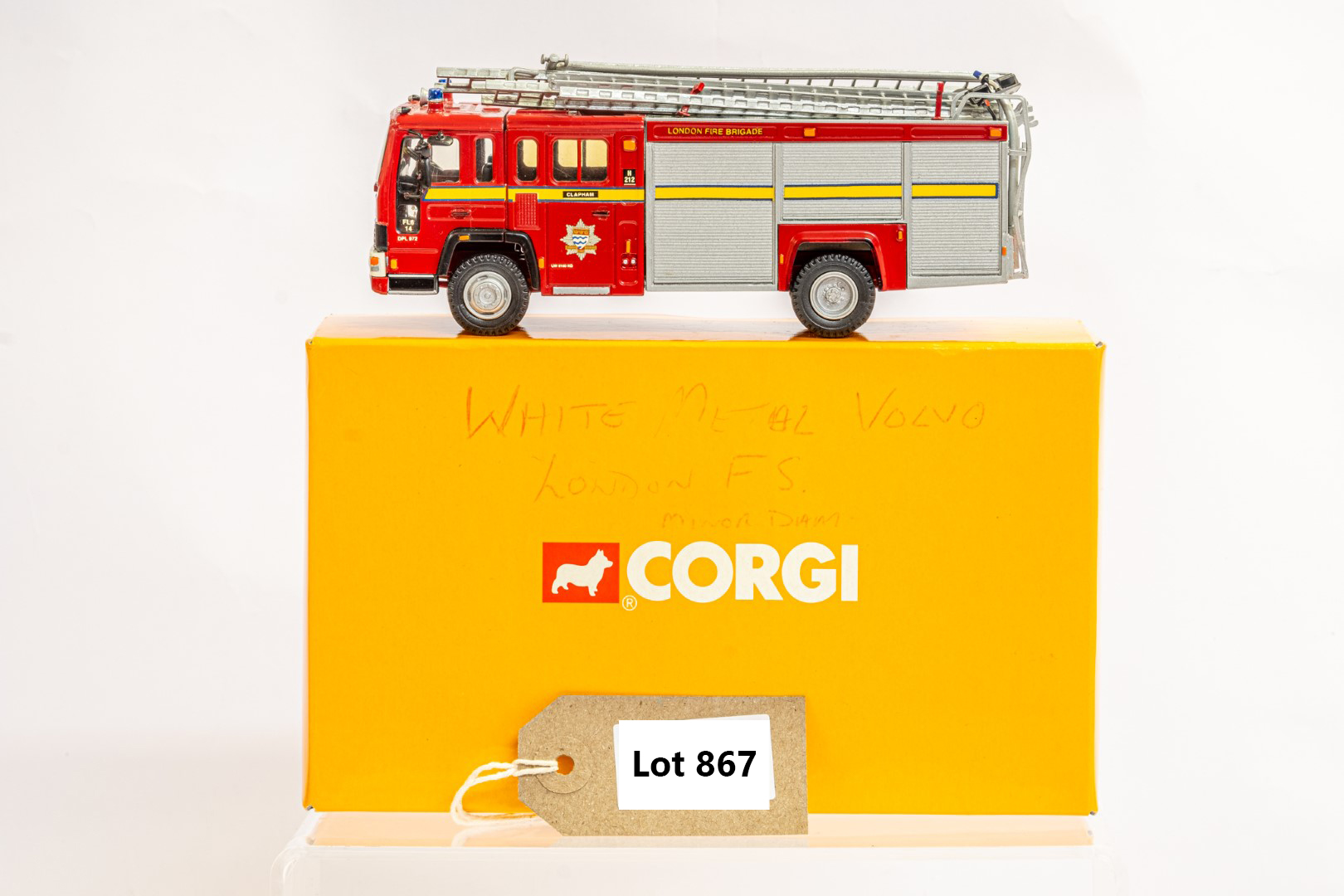 Fire Brigade Models Volvo Fire Engine - Clapham Fire Brigade - In Wrong Box