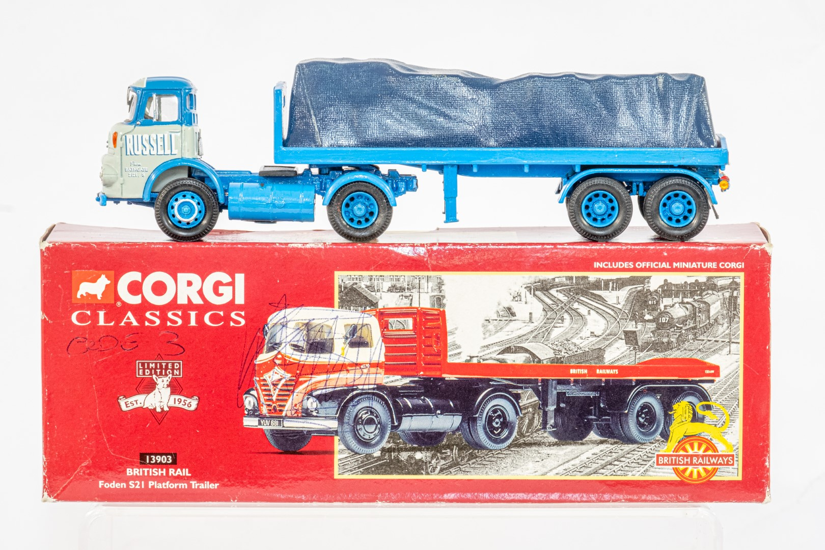 Corgi Esso Tanker Trailer & Albion With Flatbed & Load - Russell - In Wrong Box - Code 3 ? - - Image 3 of 5