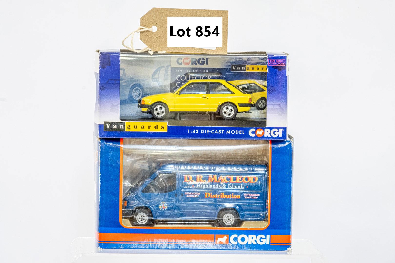 Vanguards & Corgi Transit Van - Macleod / Ford Escork MK3 XR3 - Praurie Yellow