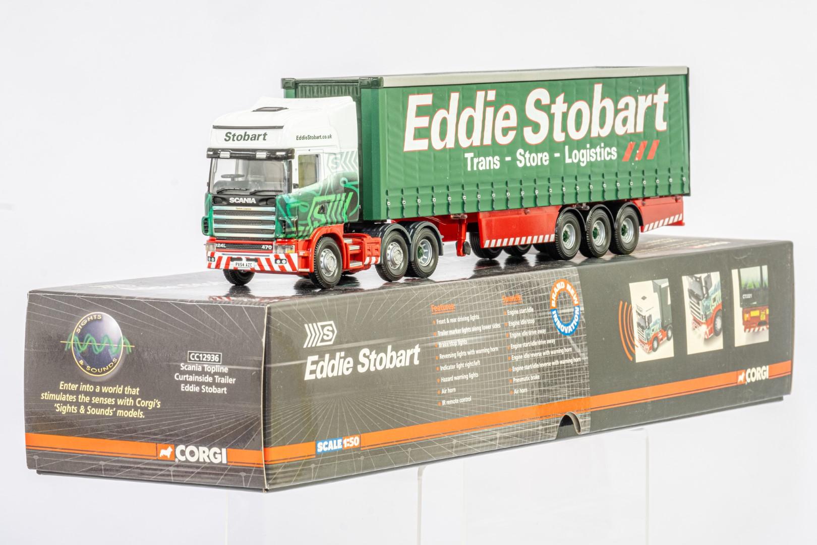 Corgi Scania Topline Curtainside Trailer - Eddie Stobart - Sights & Sounds - Image 2 of 3