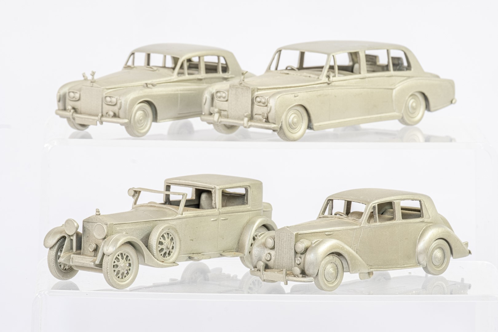 Danbury Mint 12 x Loose Pewter Rolls Royce Models - No Boxes - Image 2 of 4
