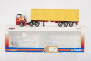 Corgi MAN TGA XXL Skeletal Trailer & Container - Hanbury Davies LTD -
