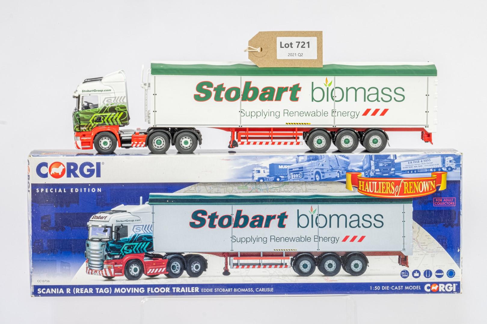 Corgi Scania R Moving Floor Trailer - Eddie Stobart Biomass -