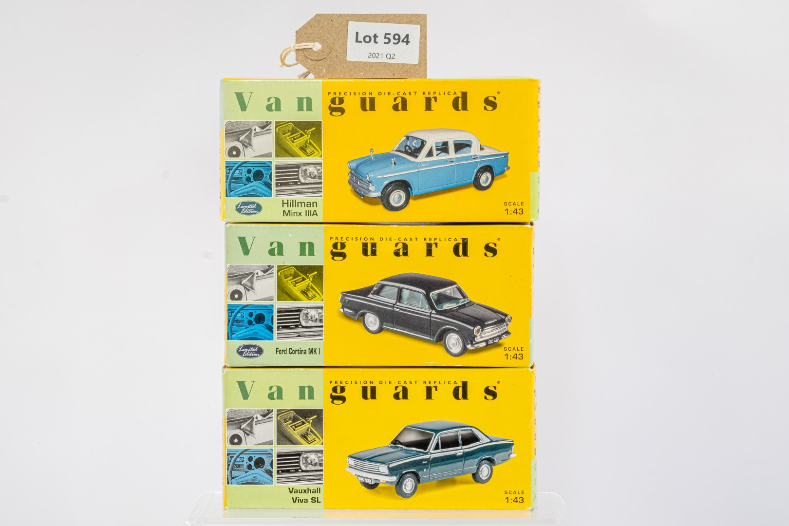 Vanguards Vauxhall Viva SL / Ford Cortina MK I / Hillman Minx IIIA -