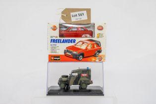 Oxford Diecast & Burago 2 Boxed Car Models -