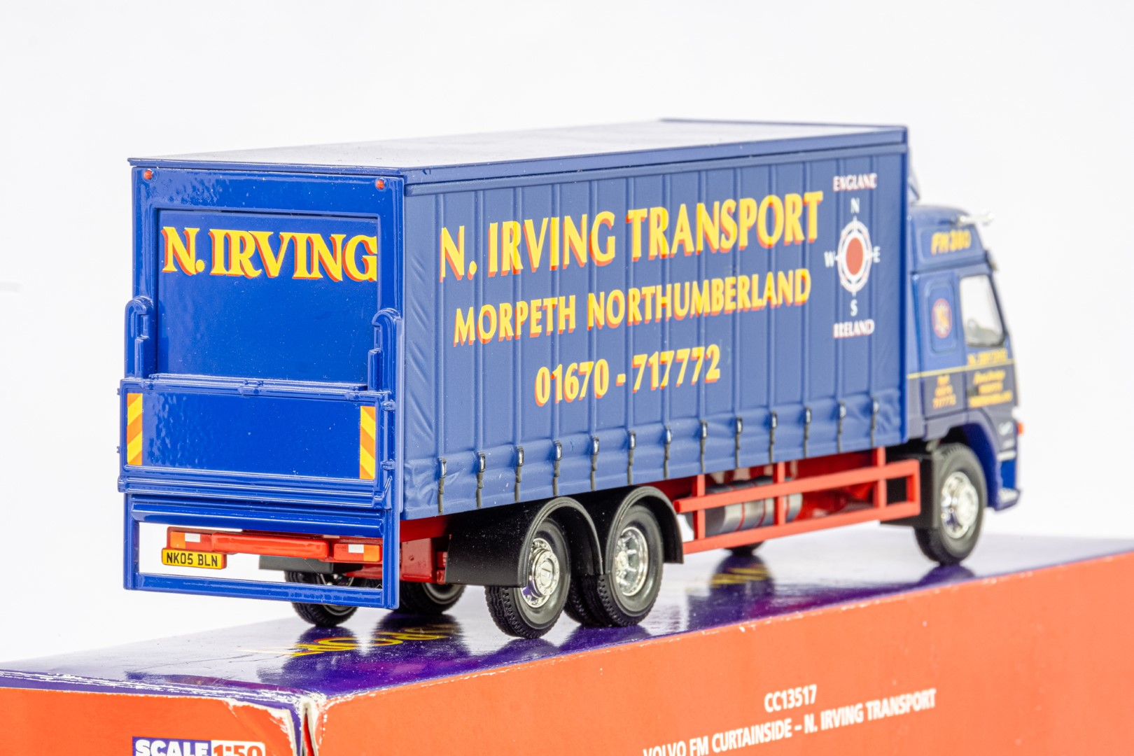 Corgi Volvo FM Curtainside - N.Irving Transport - - Image 5 of 5