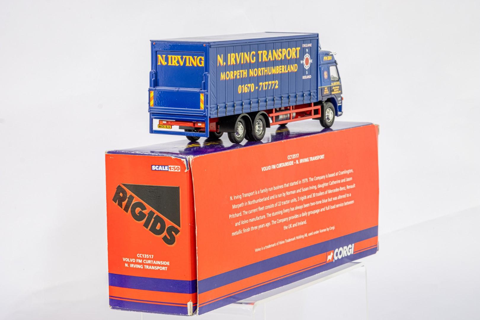 Corgi Volvo FM Curtainside - N.Irving Transport - - Image 3 of 5