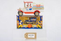 Lledo 1 x Boxed Prince William 21st Birthday Bull Nose Van & 1 x Pepsi Cola Coin Bank -