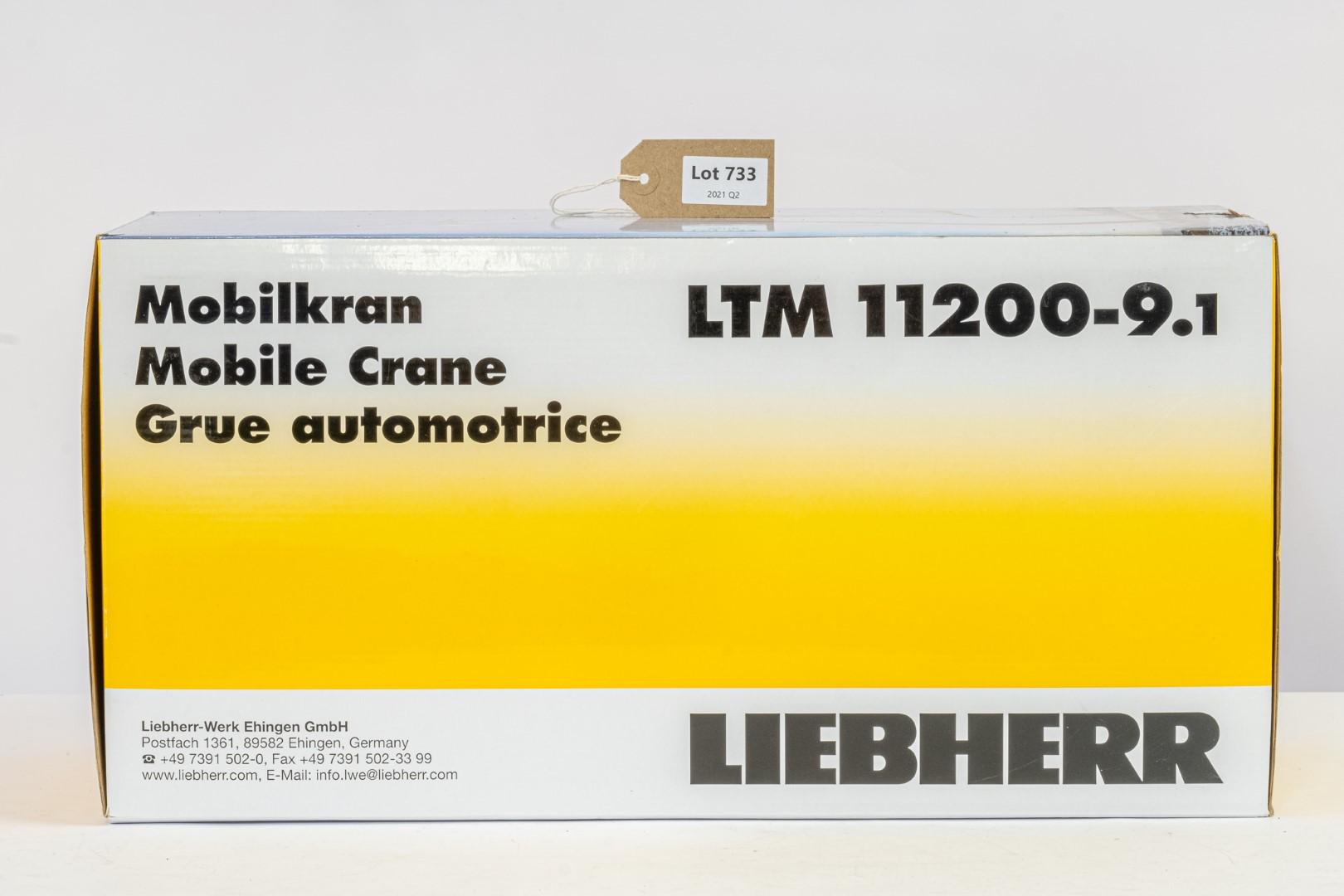 NZG Leibherr LTM 11200-9.1 Transbiaga Crane Blue -