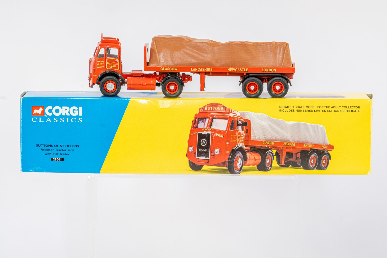 Corgi Atkinson Tractor Unit With Flatbed Trailer - Suttons Of ST Helens -