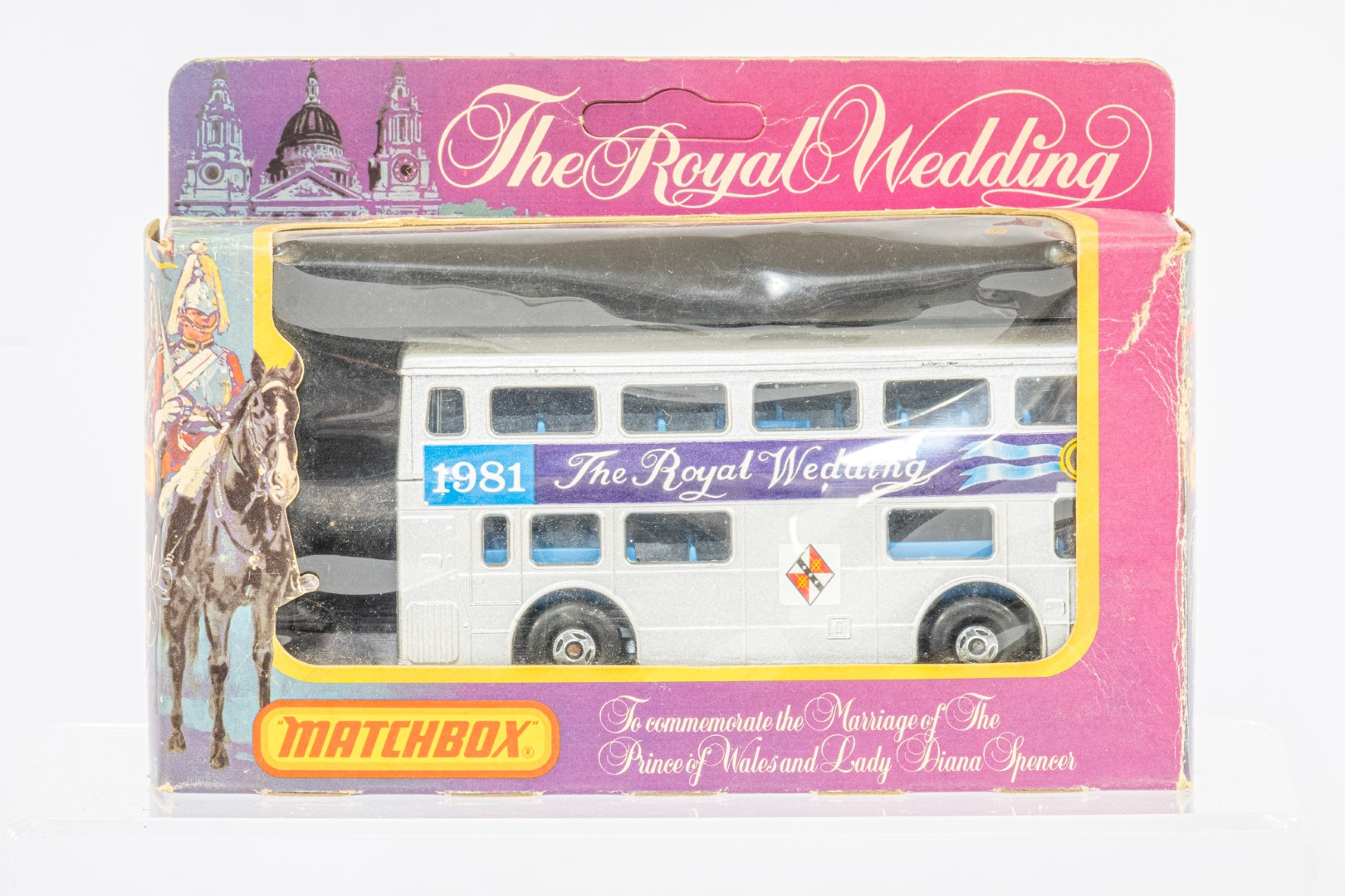 2 x bus models - Corgi OM44117 London 2012 & Matchbox KRW-15 The Royal Wedding - Image 3 of 3
