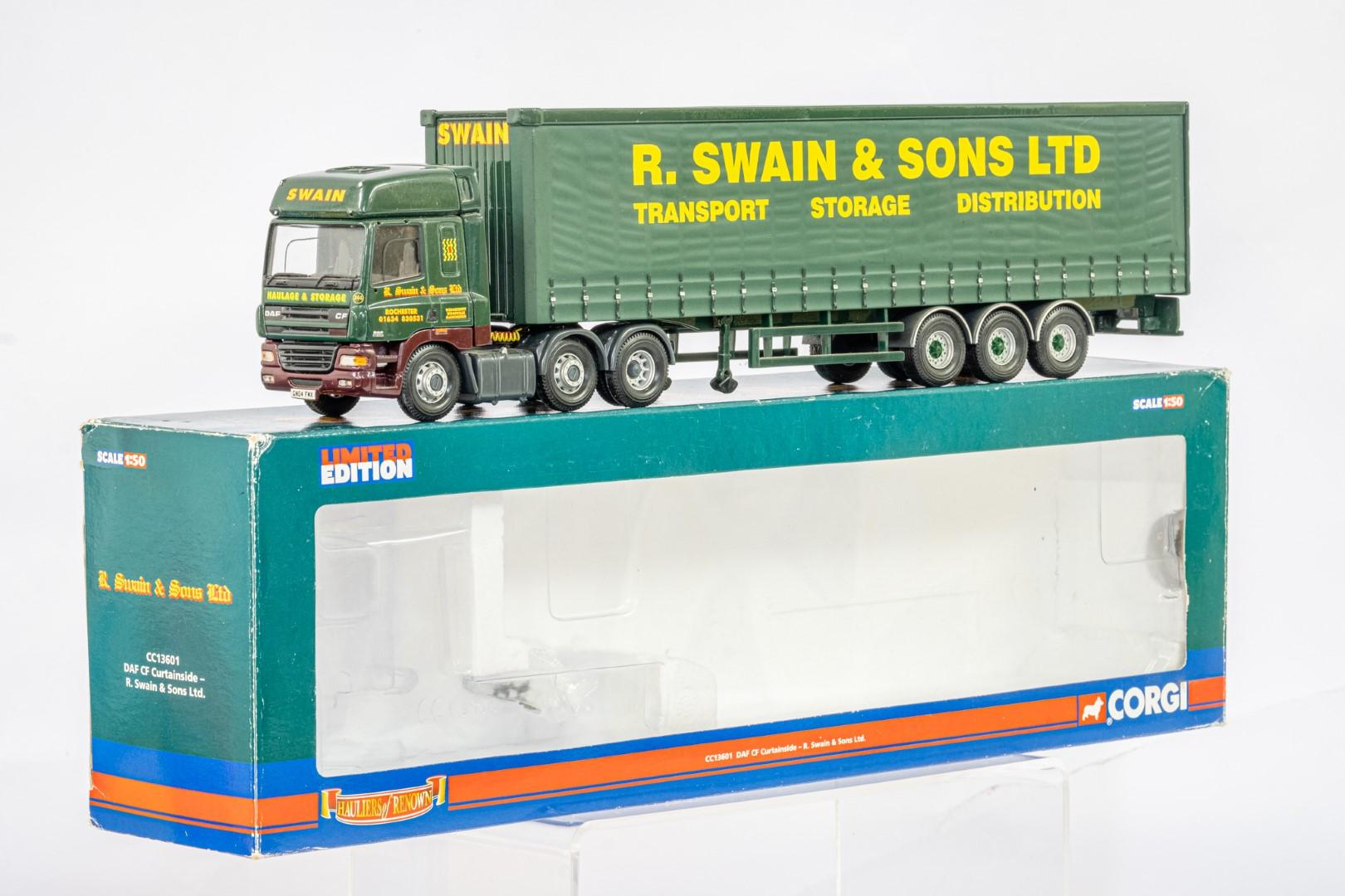 Corgi DAF CF Curtainside - R Swain & Son Ltd - - Image 2 of 5