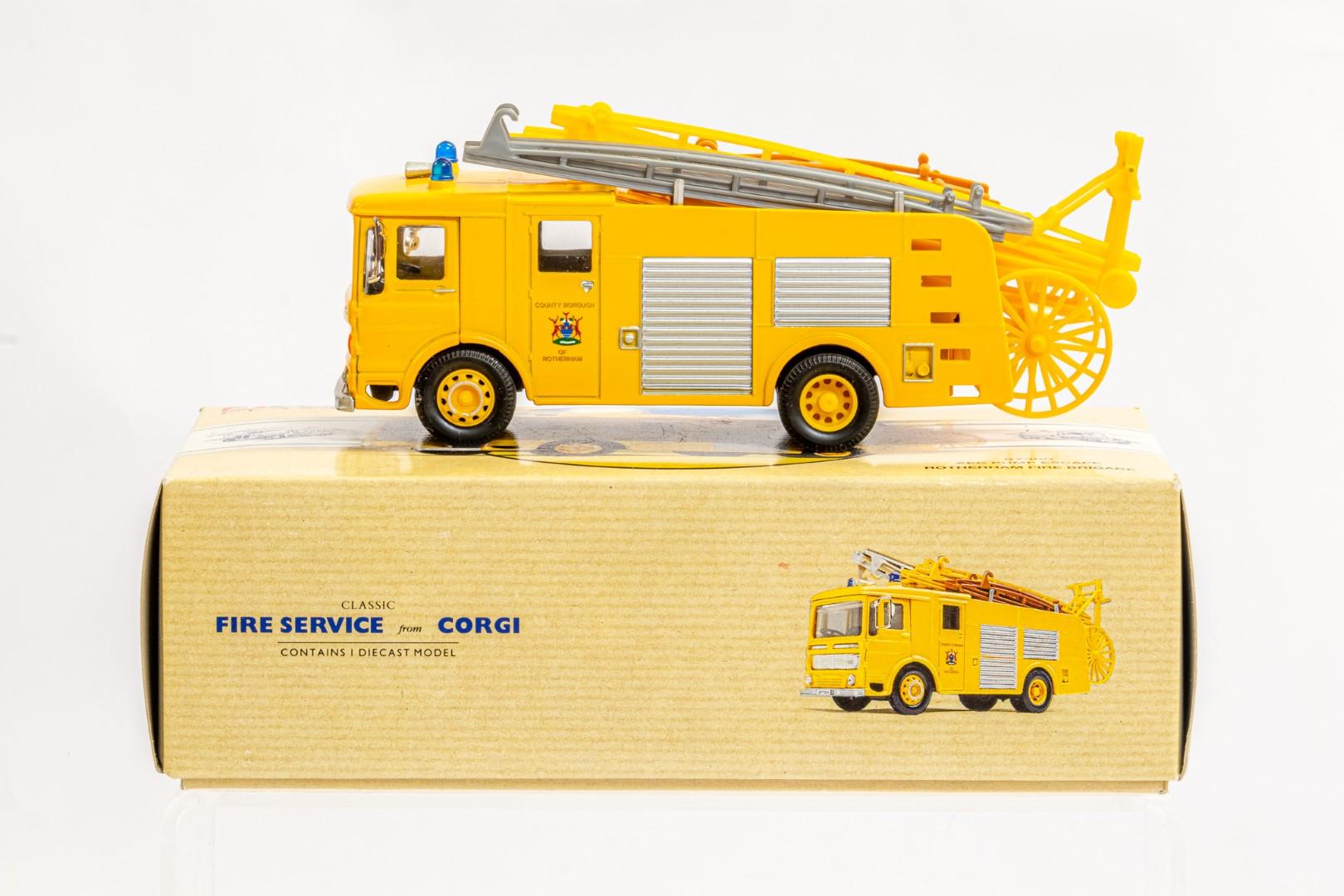 Corgi AEC Pump Escape - Rotherham Fire Brigade - Image 2 of 8