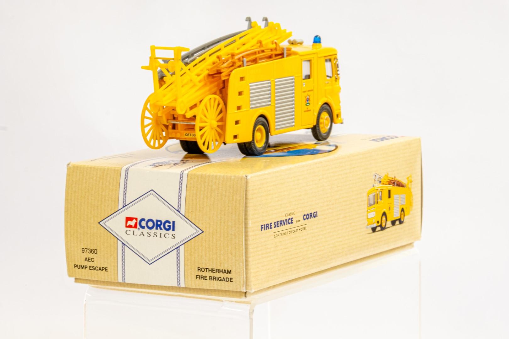 Corgi AEC Pump Escape - Rotherham Fire Brigade - Image 4 of 8