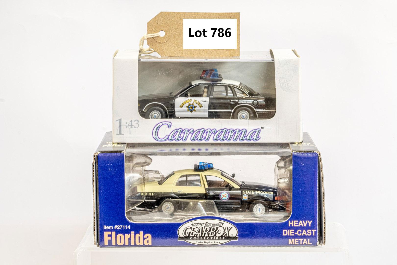 2 x American Police Cars