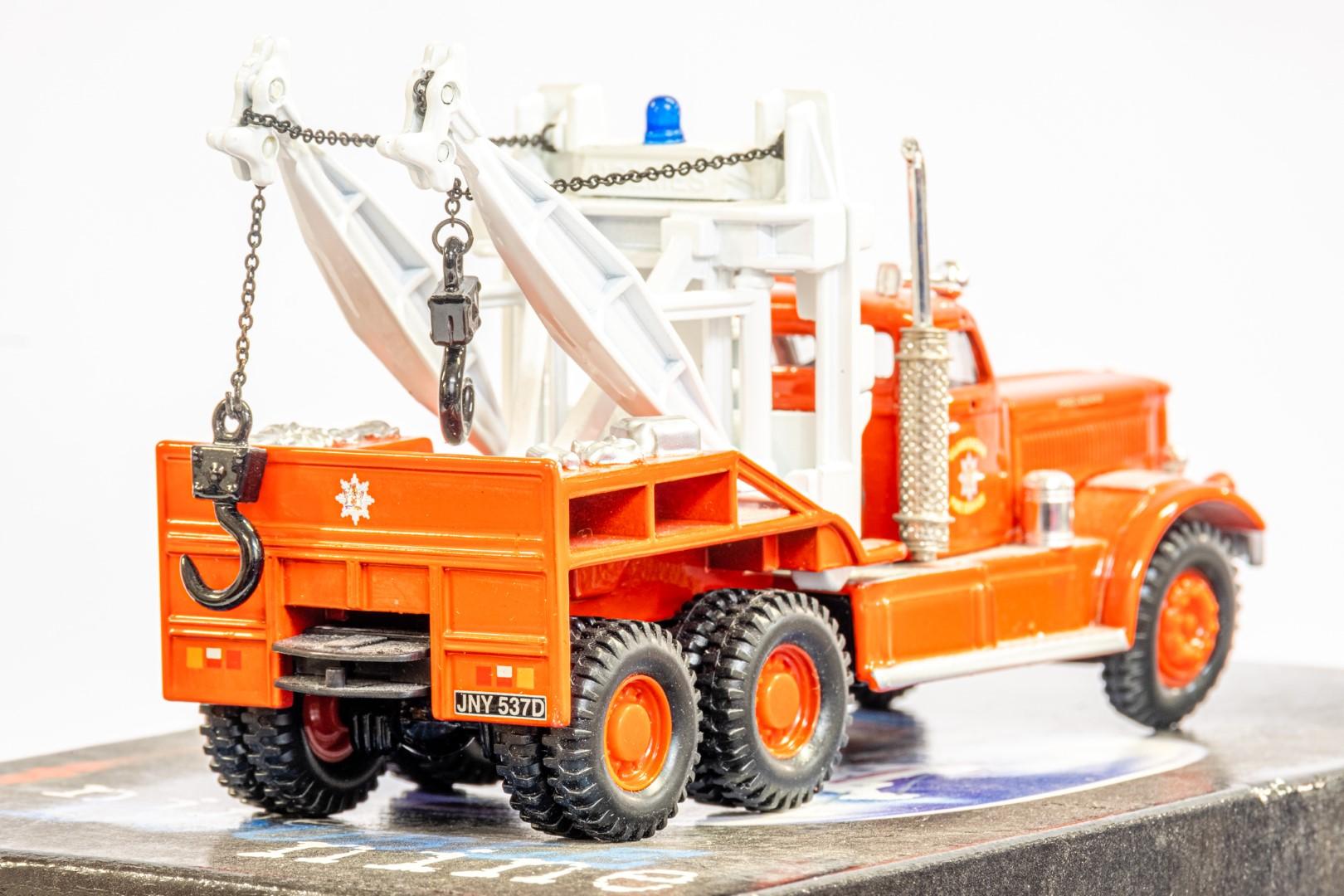 Corgi Diamond T Wrecker - Galmorgan Fire Service - Image 6 of 6