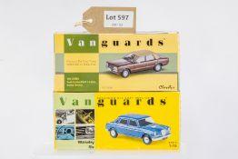 Vanguards Ford Cortina MkIV 2.0 Ghia Roman Bronze - Wolseley Six - Cosmic Blue Metallic -