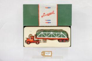 Corgi Scammell Highwayman Flatbed Trailer & Cradled Load - Westfield Transport Ltd -